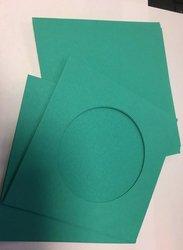 Envelop zeegroen 4+4 kaart 14x14cm p/4st