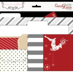 File folders Teresa Collins Tinsel & Company  inhoud 5 stuks
