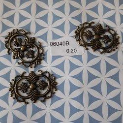 Filigraan 2 cirkels bewerkt 3.5 x 2.5 cm per stuk brons