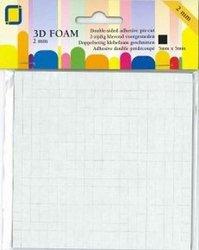 Foam dots 2x5x5mm p/400st zwart