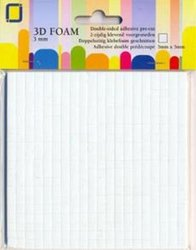 Foam dots 3x5x5mm p/400st wit