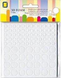 Foam rounds 2-6-12mm p/88st wit
