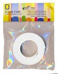 Foam tape dubbelzijdig 0.5mm p/2mtr wit