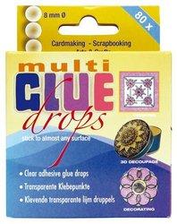 Glue drops multi 8 mm inhoud 80 stuks