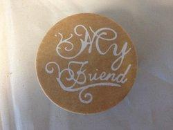 Stempel ronde My friend 4cm p/st hout