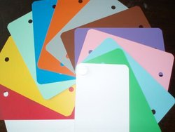 Labels PVC 80x150mm p/1000st paars plastic