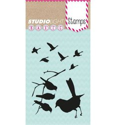 Clear stamp Basics A7 p/st Vogeltjes