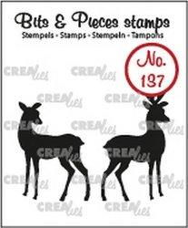 Clear stamp Bits&Pieces hertjes 21 x 29 mm en 20 x 40 mm per stuk