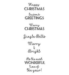 Clear stamp Christmas Cheer woorden onder elkaar  per set