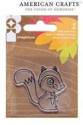Clear stamp give thanks squirrel p/st