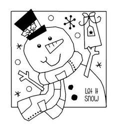 Clear stamp Jolly Snowman sneeuwpop muts  per set