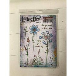 Clear stamp Kay Carley A5 Eclectica bloemen  per stuk