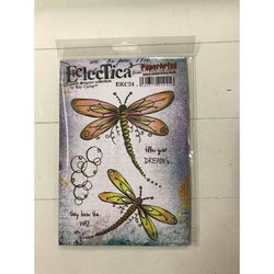 Clear stamp Kay Carley A5 Eclectica libelle  per stuk
