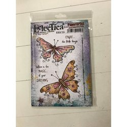 Clear stamp Kay Carley A5 Eclectica vlinders  per stuk