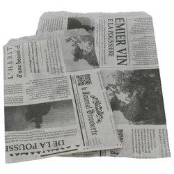 Draagtas kranten 26+12x35cm p/25st