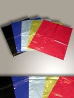 Draagtas plastic 45 x 50 + 10 cm  inhoud 50 stuks zwart