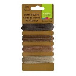 Hemp cord Assortiment 4 kleuren natuur 1 mm inhoud 40 meter