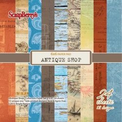 Paper pad Antique Shop 15x15cm p/24vel