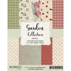 Paper pad 15x15cm Garden p/set