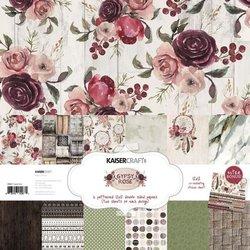 Paper pad gypsy rose 30.5x30.5cm p/12vel