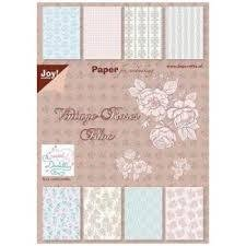 Paper pad 15x21cm Vintage p/32vel roze