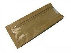 Papieren zakken 21/10x42cm p/50st kraft venster