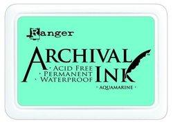 Archival ink pad aquamarine 5x8cm p/st