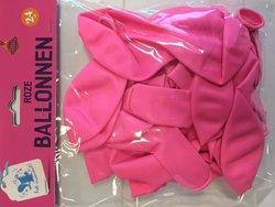 Ballonnen   inhoud 24 stuks roze