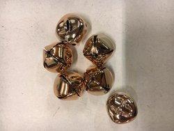 Belletjes rose/goud 1.3cm p/st koker