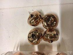 Belletjes rose/goud 2.0cm p/st koker