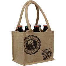 Biertas jute voor 6 flesjes bier  per stuk