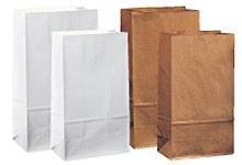 Zakken bruin 13x8x25cm p/50st blokbodem papier