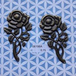 Brons mooie grote roos 8 x 4.5 cm per stuk brons