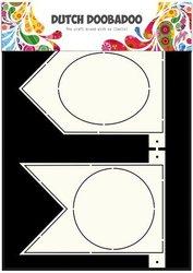 Card art Banner Flags A5 per stuk