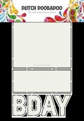 Card art B-day A4 per stuk