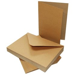 Cards & Envelopes 12 x 17 cm inhoud 10 stuks bruin