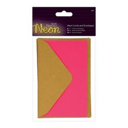 Card & Envelop groen p/3st neon