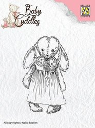 Clear stamp Baby Cuddles Cuddly girl   per stuk