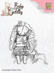 Clear stamp Baby Cuddles Princess Rabbit   per stuk