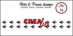 Clear stamp Bits&Pieces no 74 vogelpoot afdruk 11 x 95 mm per stuk