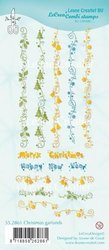 Clear stamp Christmas garlands  p/st
