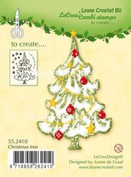 Clear stamp Christmas tree p/st