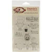Clear stamp Darcis Heart en home halloween  per stuk