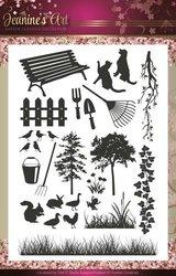 Clear stamp garden classics plaatjes  per stuk