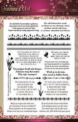 Clear stamp garden classics tekst  per stuk