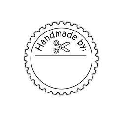 Clear stamp Handmade by met chaartje a7 per stuk