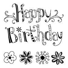 Clear stamp Happy Birthday  per stuk
