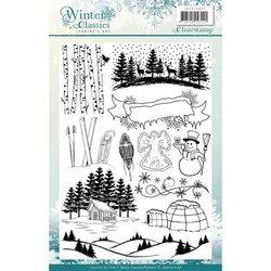 Clear stamp Jeanines Art Winter Classics plaatjes a5 per stuk