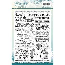 Clear stamp Jeanines Art Winter Classics teksten a5 per stuk