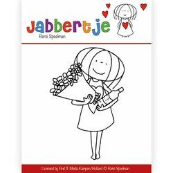 Clear stamp RenŽ Speelman Jabbertje Bouquet  per stuk